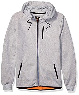 Rip Curl Men's Departed Anti Series Technical Zip Up Hooded Sweatshirt, Medium Grey 19, Large from Rip Curl