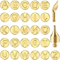 28 Pieces Wood Burning Tip Letter Wood Burning Tool Lowercase Alphabet Branding and Personalization Set for Wood and Other Surface by Wooden Letter for Carving Craft Wood Burning DIY Hobby Tool