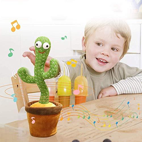Shirley Cactus Plush Toys - Funky Twisting Singing and Dancing Cactus Electronic Toy De Tiktok, Cute Big Eyes Cactus, Divertidos Juguetes Educativos para La Primera Infancia