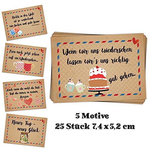 Logboek-uitgeverij sticker etiketten met spreuken - goede wensen spreuken sticker geschenkverpakking motivatie bruin-rood-blauw