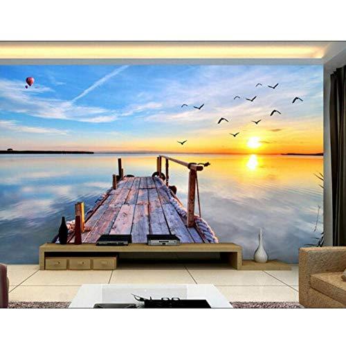 3D Wallpaper Muurschildering Non-Woven Muursticker, 3D TV Instelling Muur, zee Scenery Schilderij Foto,3D Muurschildering Wallpaper 280cm(B) x180cm (H)