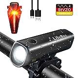 LED Fahrradlicht Set, LIFEBEE StVZO Zugelassen USB Fahrradbeleuchtung Wiederaufladbare Fahrradlampe...