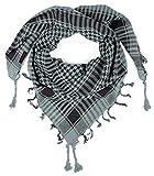 LOVARZI Bufanda Gris - Foulard para hombre y mujer - Pañuelo palestino algodón para niños niñas