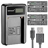 Neewer マイクロUSBバッテリー充電器+2個 2600mAh NP-F550/570/530交換用バッテリー Sony HandyCams、Neewer Nanguang CN-160、CN-216、CN-126 LED ライト、 Polaroid On-Camera ビデオ ライトに対応