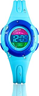 Girls Watch Digital, Kid Watch with 50M Waterproof LED Alarm Stopwatch EL Light Outdoor Sport Toddler Watch Boys Girls for Age 7-10 10-15