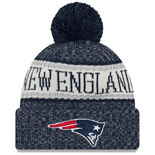 New Era ONF18 Sport Knit Bommelmütze New England Patriots Blau, Size:ONE Size