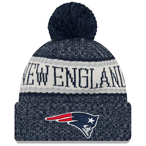 New Era NFL 2018 On Field Sideline Gorro deportivo tejido, New England Patriots, Multi-coulored, Una talla