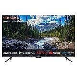 coocaa 55S6G 55 Zoll Smart 4K UHD LED Fernseher (139 cm) mit Android TV (Rahmenloses Design, Triple Tuner, Android 10.0, Netflix, YouTube, Prime Video, HDMI, CI-Slot, USB, Digital Audio)