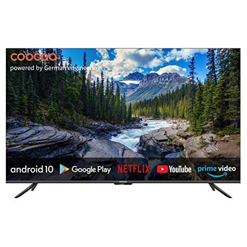 coocaa 50S6G 50 Zoll Smart 4K UHD LED Fernseher (127 cm) mit Android TV (Rahmenloses Design, Triple Tuner, Android 10.0, Netflix, YouTube, Prime Video, HDMI, CI-Slot, USB, Digital Audio)