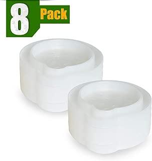ASPECTEK Bed Bug Trap Trampa para Insectos (8 Unidades), Color Blanco, 8 Pack