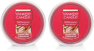 Yankee Candle 2 Pack Sparkling Cinnamon Easy MeltCup 2.2 Oz.