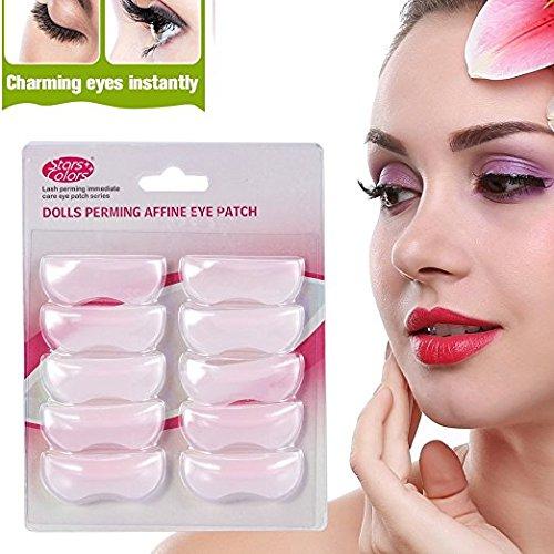 Pestañas de silicona cojín 3D patch curva pestañas accesorios de maquillaje permanente 20 Pares