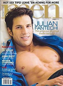 Julian Fantechi l J.D Kollin l Arthur Cosentino l Leather l Gay Porn Stars - August 2006 Men Magazine