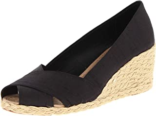 Womens Espadrille Wedge Sandals Slip On Closed Toe High Heels Summer Pumps