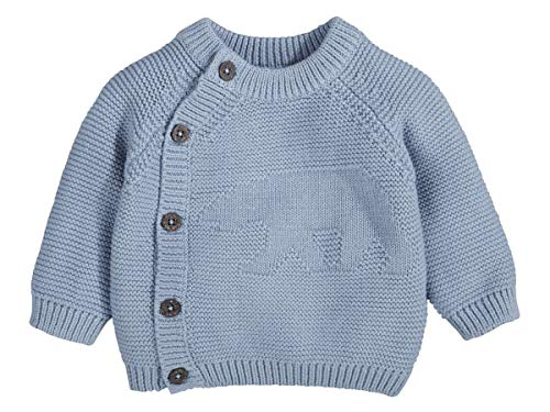 lupilu Jungen Baby Strickjacke 100% Baumwolle - Organic Hellblau 50/56