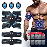 OSITO Abs Stimulator Muscle Toner Abdominal Muscle Trainer Rechargeable EMS Ab Stimulator