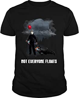 Michael Myers Shirt Not Everyone Floats Tshirt Halloween Horror Scarry Costume T-Shirt