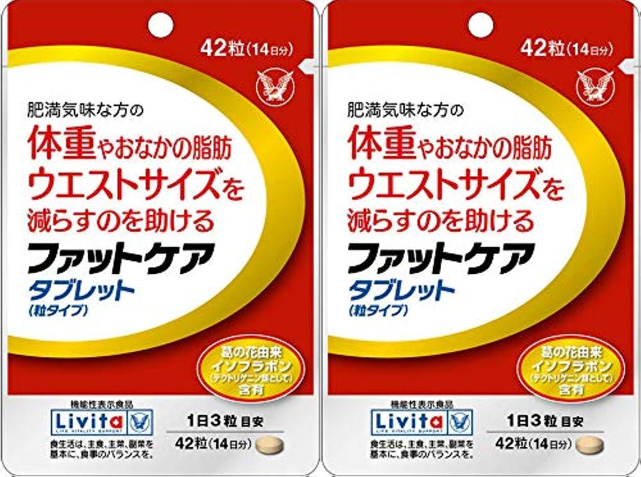 裏切る手荷物細分化する【2個セット】ファットケア タブレット 42粒(機能性表示食品)