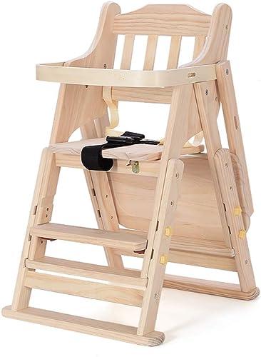 nueva marca Baby dining chair Silla de Comedor para bebés, Silla Silla Silla de Comedor para Niños, Silla Plegable y portátil Plegable de Madera Maciza para Comer Mesa para Comer, Color  A  el más barato