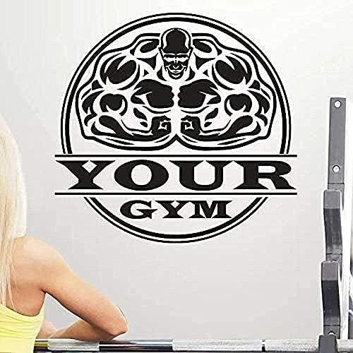 Calcomanía de pared para niño, calcomanía de Club de Fitness muscular, pegatina de gimnasio, póster decorativo, calcomanía de vinilo para pared, adhesivo decorativo para pared, pegatina de 58x62cm
