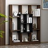 HOMIDEA Mars Libreria - Scaffale per Libri - Scaffale per Ufficio/Soggiorno dal Design Moderno (Noce/Nero)