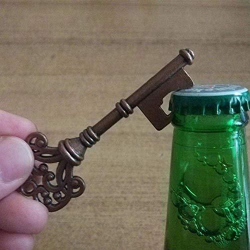 DJY-JY Portátil de Botella en Forma de Llave de Apertura Retro Llavero Botella de Cerveza abridor Color al Azar