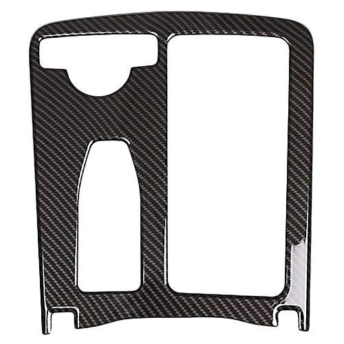 Accesorios de coche Coche Abs Central Copa Consola Bloque De Soporte De Montaje For Mercedes-Benz Clase E W212 2010-2011 Clase C W204 2008-2014 Negro (Fibra De Carbono (Color : Black)