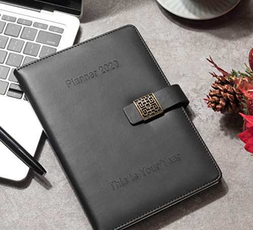 Premium 2020 Planner Daily Weekly Monthly Planner - PU Leather Diary Agenda A5 - Schedule Appointment Organizer - New Year Measurements Calendar, New Year Gift - This is Your Year