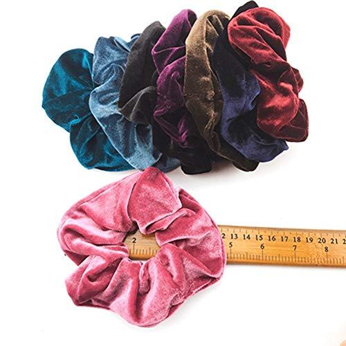 Egurs 8 Pack 12 cm Grote Fluweel Elastische Haar Scrunchies Kleurrijke Haarbanden Haarband