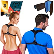 "Only1MILLION Posture Corrector for Women & Men, Relieves Shoulders Pain, Corrects Slouching, Hunching & Bad Posture, Upper Back Brace for Clavicle Support, Chest 28""-48"""