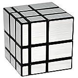 EASEHOME Espejo Speed Magic Puzzle Cube, Mirror Rompecabezas Cubo Mágico PVC Pegatina para Niños y Adultos, Negro