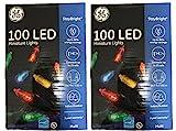GE Mini Led Light Set 100 Lights Multi-Colored...