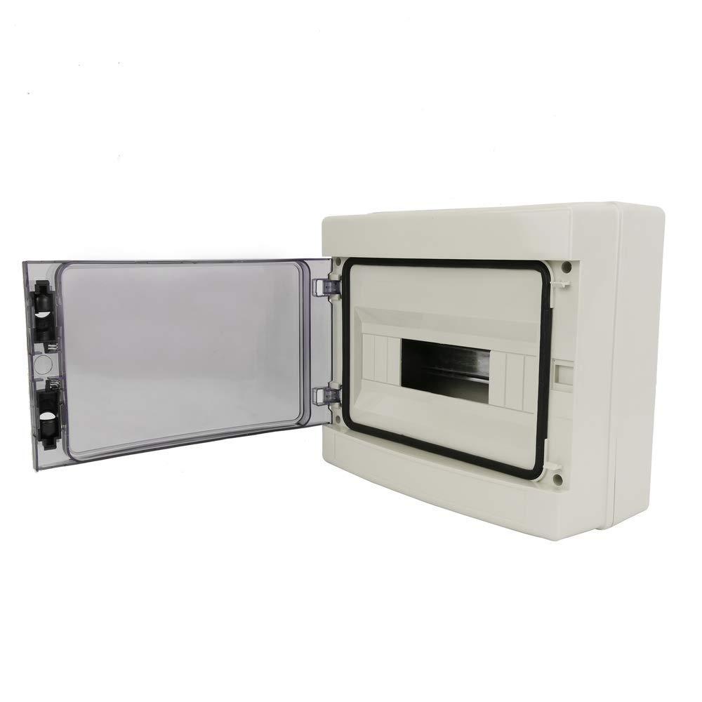 BeMatik - Caja de distribución eléctrica de 12 módulos de ...