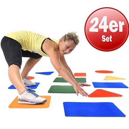 Sport vloertegels set van 24 vloertegels gymnastiek tegels kleur gesorteerd