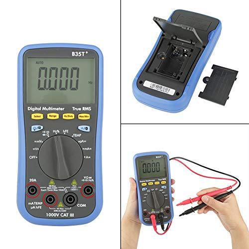 Voltímetro Amperímetro Ohmímetro Digital Volt Ohm Meter AC DC Resistencia de voltaje Condensador Multímetro Bluetooth para el hogar