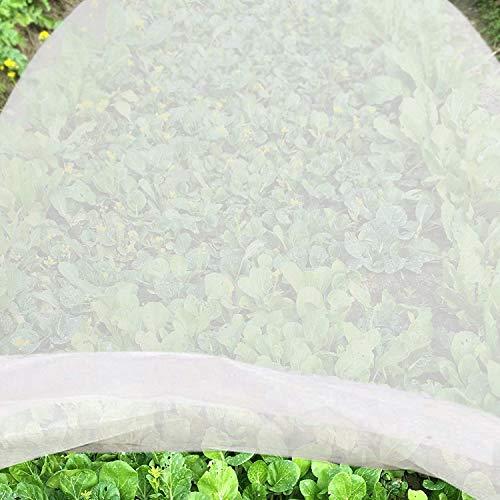 Jycra - Telo antigelo per piante, in tessuto non tessuto di alta qualità, riutilizzabile, copertura flessibile per piante da giardino e verdure, Tessuto non tessuto, bianco, 2m x 6m