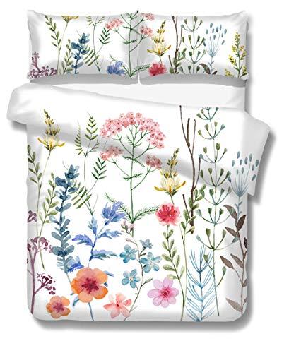 LJJYF Fundas nórdicas Cama,Juego de Cama 3D Fresh Flower Series, Funda nórdica con 2 Fundas de Almohada, habitación Infantil Individual King-C_140 * 210cm (2pcs)