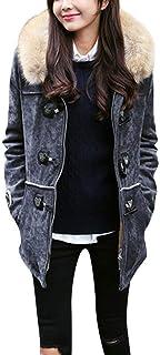 Cappotto Lungo Parka da Donna Cappotto Lungo Outwear Giacca Abbigliamento Invernale Vintage Antivento Giacca con Cappuccio...
