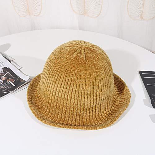geiqianjiumai Herfst en winter mode visser hoed dames wild chenille effen kleur casual wastafel cap