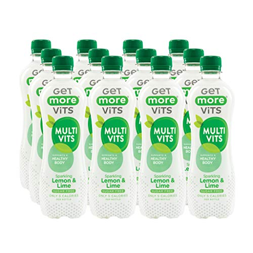Get More Multivitamins Sugar Free Lemon & Lime Sparkling Drink 500 ml (Pack of 12)