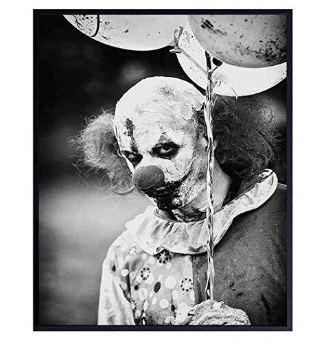 Scary Clown - Creepy Clown - Gothic Wall Art - Gothic Decorations - Goth Wall Decor - Goth Room Decor - Satanic Clown - 8x10 Horror Movie Poster