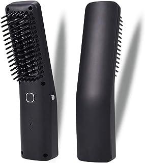 Negative Ion Curler Straightening Comb 2000 MAh Hair Straightene 3 Mode LED Display Temperature Adjustable Auto Shutdown for Men and Women
