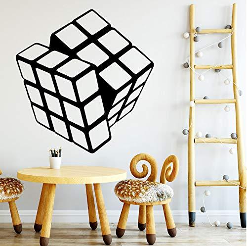 Dibujos Animados Rubik Cube Vinilo Cocina Pegatinas De Pared Papel Pintado Calcomanías De Pared Decoración Pared 43 * 44Cm