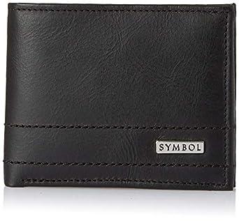 Amazon Brand - Symbol Black Leather Men's Wallet (SY191230-0080A)