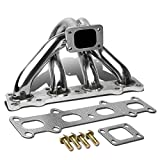 Compatible with Mazda Miata MX5 1.8 Stainless Steel T25/T28 Top Mount Turbo Manifold