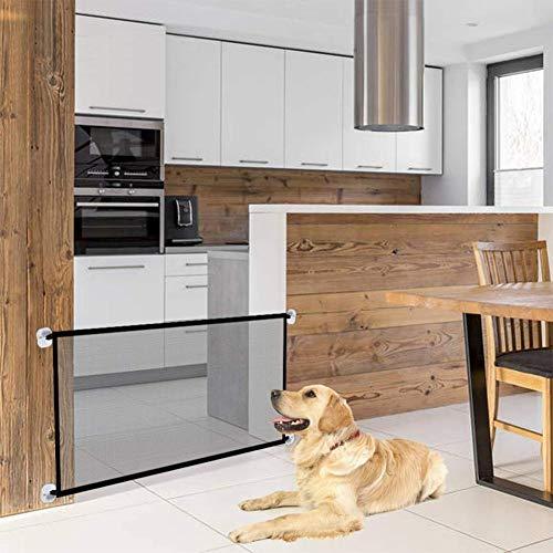 Treppenschutzgitter, Absperrgitter Hund, Türschutzgitter Hund, Hundeschutzgitter, Hundebarrieren, Faltbar Trennwand Installieren überall für Hunde Katzen, 180 * 72cm