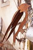 Edelrost 3D Vogel 20x12cm mit Schraubgewinde Holz Gartenzaun Dekoration
