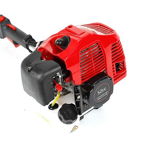 2-Takt 2,3PS 1.7kW 52CC Gas/Öl Handkehrmaschine Kehrgerät Motorbesen Schneeräumer Benzinmotor Besen Auffahrt Handheld Kehrmaschine Gehen Luftgekühlter Power Sweeper Reinigung