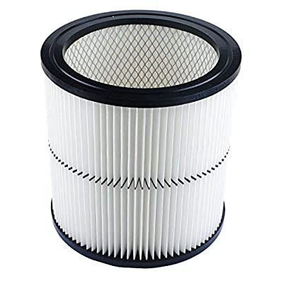 Podoy 17884 Vacuum Cartridge Filter Compatible with Craftsman 9-17884 17935 17937 17920 Fit 6,8,12,16 Gallon & Large Vacs Replacement Part