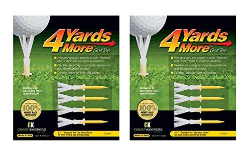 """4yards más Golf Tee 4-Pack estándar de 23/4"""" (2Count)"""